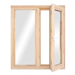 Окно деревянное с однокамерным стеклопакетом  960 х 970 мм