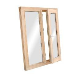 Окно деревянное с однокамерным стеклопакетом 1160 х 970 мм