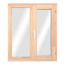 Окно деревянное с однокамерным стеклопакетом 1160 х 1170 мм