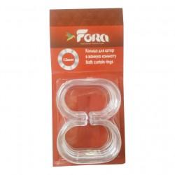 "Кольца д/ штор ""С"" прозрачный пластик FORA K12"