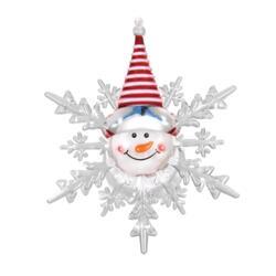 Декоративная фигурка Снеговик светодиодная на присоске 10*12 см, меняет цвет, с батарейкой 55054