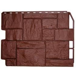 Фасадная панель Дачный, туф, цвет коричневый, 0.8 х 0.6 м