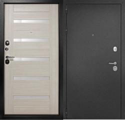 Дверь входная металлическая Рубикон Царга 2050х860 Левая,Лиственница Беленая