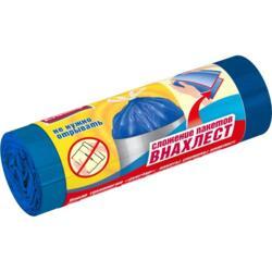 Пакеты для мусора 60л 10шт #ВНАХЛЕСТ Prestige ПСД с завязками рулон overlap голубой 89888