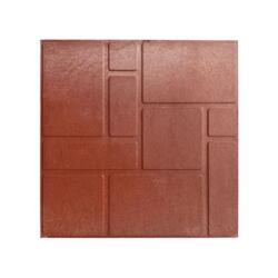 """Полимерпесчаная плитка для садовых дорожек """"Кирпичи"""", 4 шт, 330*330*20 мм, цвет ТЕРРАКОТОВЫЙ"""