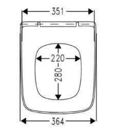 Сиденье c микролифтом Roca DAMA SENSO ZRU9302820