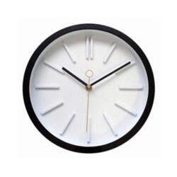 Часы настенные Black plastic clock 25x25см 79767