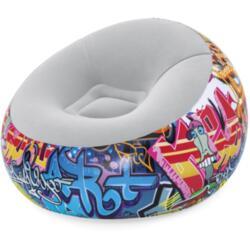 Кресло надувное graffiti 112*112*66 см bestway 75075