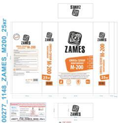 Смесь сухая монтажная Zames М200 25 кг