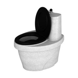 Туалет торфяной Rostok белый гранит