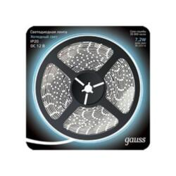 Лента Gauss LED 312000307 5м 5050/30-SMD 7.2W  12V DC холодный белый